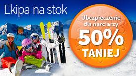 Ekipa na stok - ubezpieczenie dla narciarzy 50% taniej!