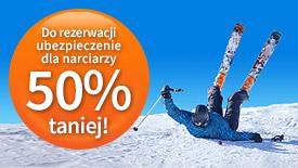Ubezpieczenie dla narciarzy 50% taniej!
