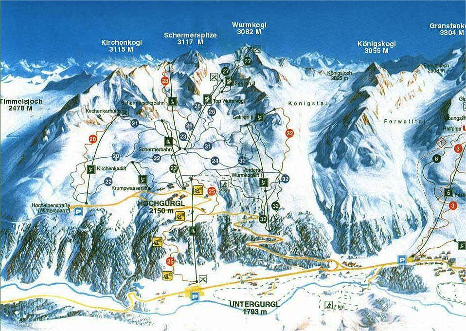 Hochgurgl Austria  City new picture : Przewodnik Hochgurgl, Austria zimą narty, snowboard, noclegi, trasy